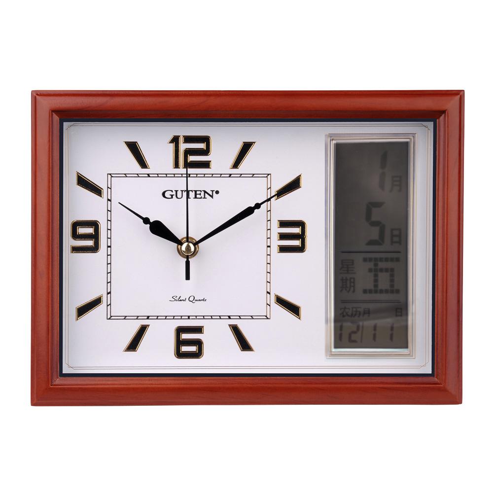 gd021-2精粹长方形lcd座挂两用钟-两用挂钟