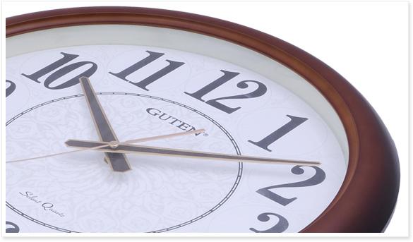 gd836-1挂钟采用咖啡扫黑渐变边框,欧式复古挂钟-石英