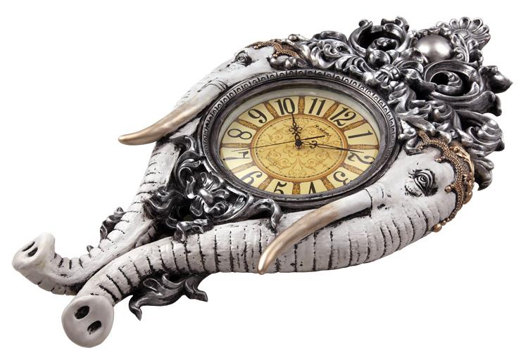 jb809-a吉祥如意-大象图案欧式树脂材质家居挂钟-皇家